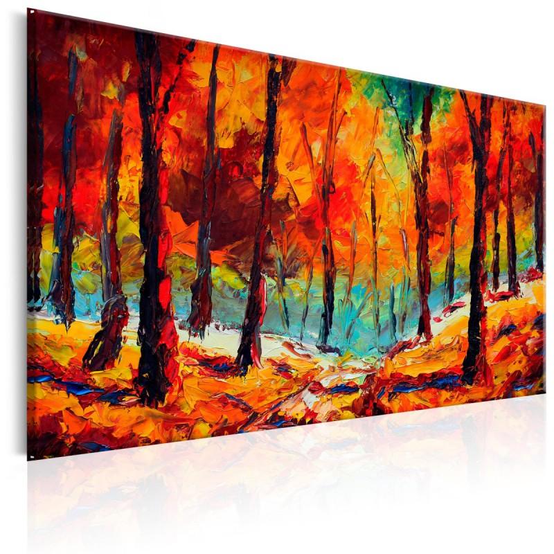Obraz malowany  Artystyczna jesień