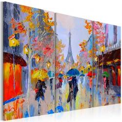 Obraz malowany Deszczowy Paryż