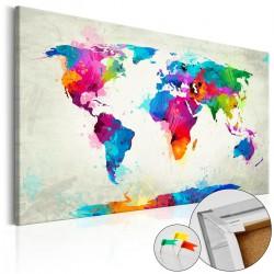 Obraz na korku Eksplozja kolorów [Mapa korkowa]