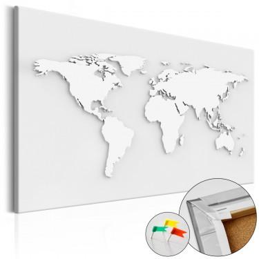Obraz na korku  Monochromatyczny świat [Mapa korkowa]