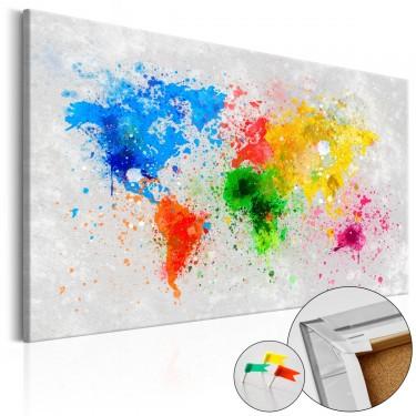 Obraz na korku  Światowy ekspresjonizm [Mapa korkowa]