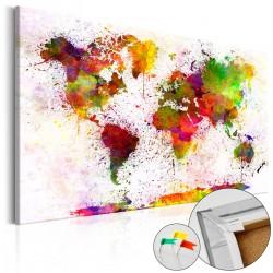 Obraz na korku Artystyczny świat [Mapa korkowa]