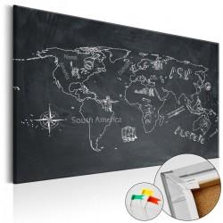 Obraz na korku Podróże kształcą [Mapa korkowa]
