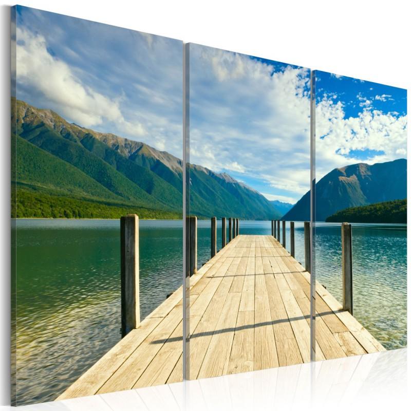 Obraz  Molo na jeziorze