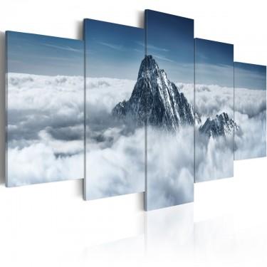 Obraz  Szczyt góry ponad chmurami