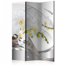 Parawan 3częściowy Perłowy taniec orchidei [Parawan]