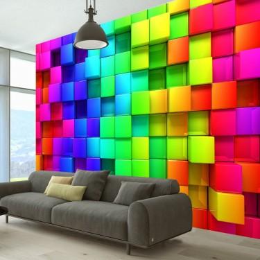 Fototapeta - Kolorowe sześciany