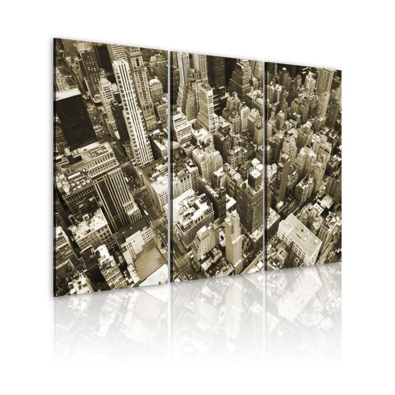 Obraz NYC miasto z lotu ptaka