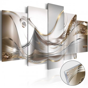 Obraz na szkle akrylowym  Złoty lot [Glass]