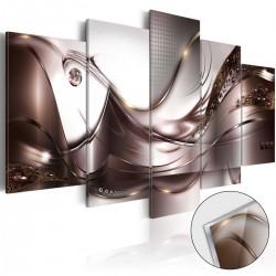Obraz na szkle akrylowym Złoty sztorm [Glass]
