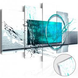 Obraz na szkle akrylowym Turkusowa ekspresja [Glass]