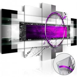 Obraz na szkle akrylowym Fioletowa obręcz [Glass]