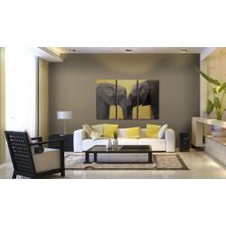 Obraz  Całus pary słoni