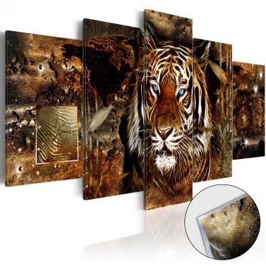Obraz na szkle akrylowym  Złota dżungla [Glass]