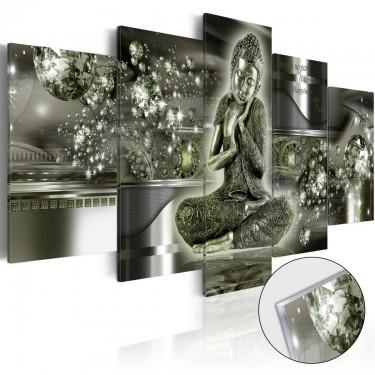 Obraz na szkle akrylowym  Szmaragdowy Budda [Glass]