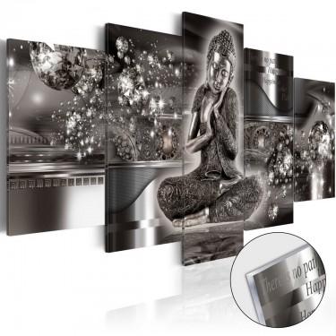 Obraz na szkle akrylowym  Srebrny spokój [Glass]