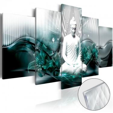 Obraz na szkle akrylowym  Lazurowa medytacja [Glass]