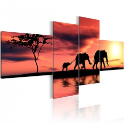 Obraz - Mama, tata i słoniątko