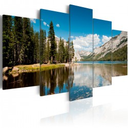 Obraz - Górskie jezioro wczesnym latem
