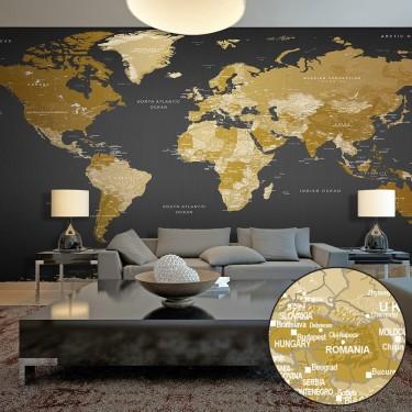 Fototapeta XXL  Mapa świata Nowoczesna geografia II