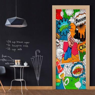Fototapeta na drzwi  Komiksowy świat