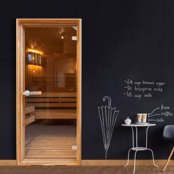 Fototapeta na drzwi  Sauna