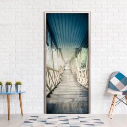Fototapeta na drzwi - Zabytkowe drewniane schody