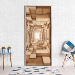 Fototapeta na drzwi - Drewniany tunel