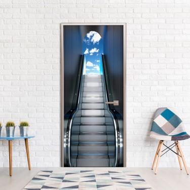 Fototapeta na drzwi  Ruchome schody