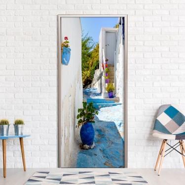 Fototapeta na drzwi  Niebieska uliczka