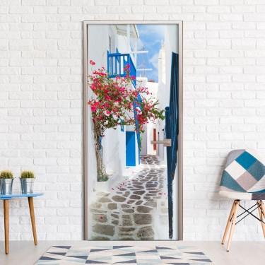 Fototapeta na drzwi  Spacer po Santorini