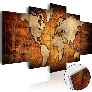 Obraz na szkle akrylowym  Plexi brązowa mapa