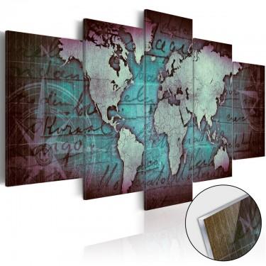 Obraz na szkle akrylowym  Plexi Zielona mapa