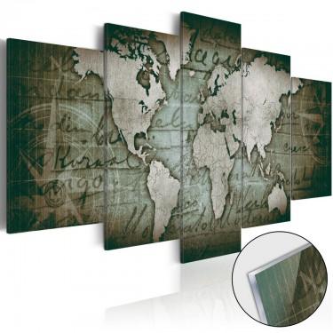 Obraz na szkle akrylowym  Plexi Mapa retro