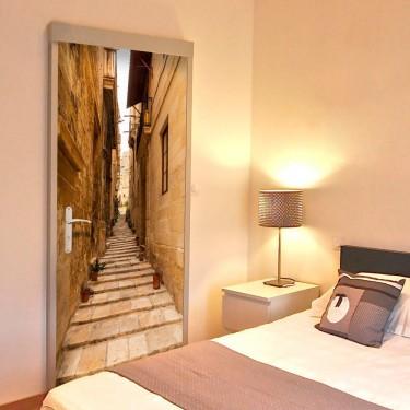Fototapeta na drzwi  Tapeta na drzwi  Wąska uliczka