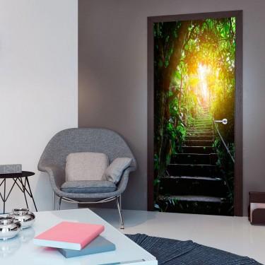 Fototapeta na drzwi  Tapeta na drzwi  Schody w miejskiej Dżungli