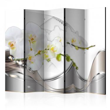 Parawan 5częściowy  Perłowy taniec orchidei II [Parawan]