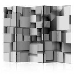 Parawan 5-częściowy - Geometryczne puzzle II [Room Dividers]