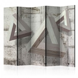 Parawan 5-częściowy - Szare trio II [Room Dividers]