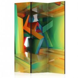 Parawan 3-częściowy - Kolorowa przestrzeń [Room Dividers]