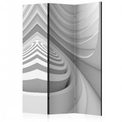 Parawan 3-częściowy - Geometryczny tunel [Room Dividers]