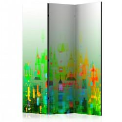 Parawan 3-częściowy - Abstrakcyjne miasto [Room Dividers]