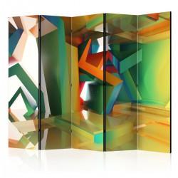 Parawan 5-częściowy - Kolorowa przestrzeń II [Room Dividers]
