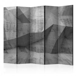 Parawan 5-częściowy - Betonowa geometria II [Room Dividers]