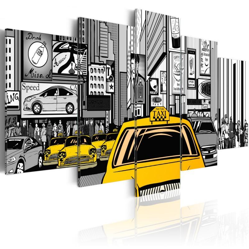 Obraz  Taksówka z komiksu