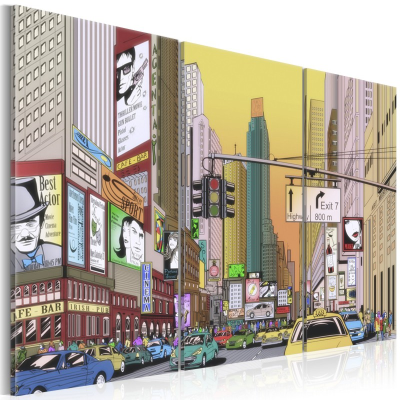 Obraz  Miasto z komiksu