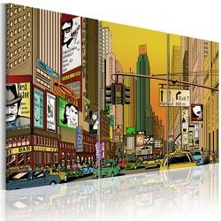 Obraz - NYC w komiksie