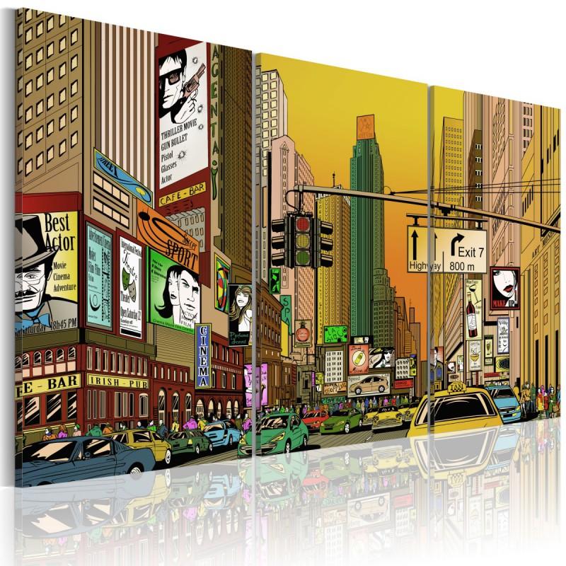Obraz  NYC w komiksie