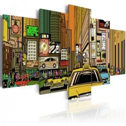 Obraz - Ulice Nowego Jorku w komiksie