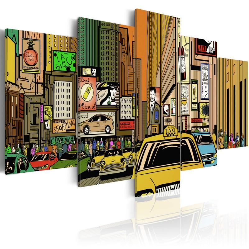 Obraz  Ulice Nowego Jorku w komiksie